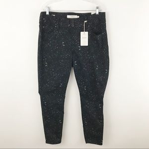TORRID jean jeggings black with star and moon 14